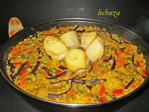 arroz con verdura -paella.