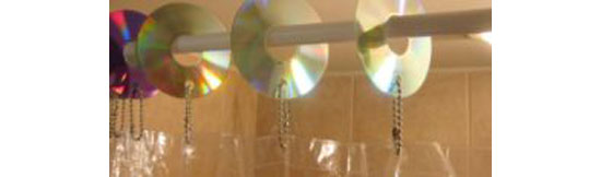 CD shower curtain