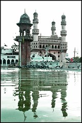 Hyderabad reflection ($wetha) Tags: reflection hyderabad swetha charminar hyderabadi canon450d swethareddy missinghyd