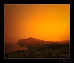 Rainy Sunset... (Chantal Steyn) Tags: ocean sunset seascape rain landscape coast nikon nikkor d300 nohdr vertorama 1685mm goughisland