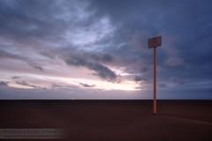 Warning sign (~Glen B~) Tags: beach sign night dark mud dusk deep windy southport quicksand