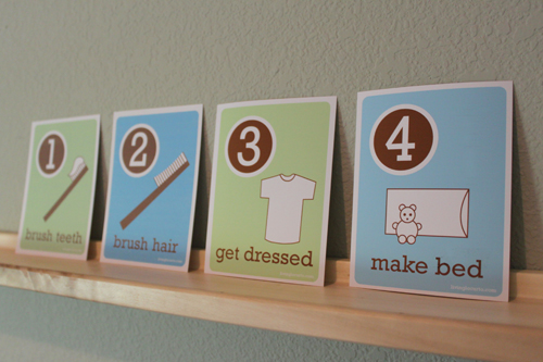 Free Printable Kid's Morning Routine Cards