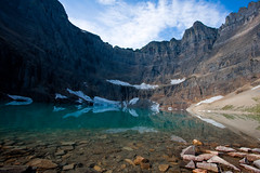 Iceberg Lake, Montana (wallypumpernickel) Tags: park lake snow david mountains ice sunrise canon montana glacier national iceberg 40d goughnour photocontesttnc09