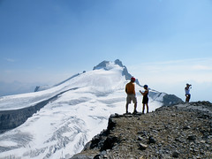 Little Hector Summit (*Andrea B) Tags: park blue summer sun mountain lake mountains green water rock warm little descent rocky peak august hike glacier hector national alberta bow summit scree banff rockymountains 2009 scramble icefieldsparkway bowvalley hectorlake andromache littlehector hectorglacier littlehectormountain hectormountain