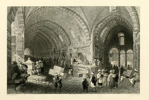 008- Gran Avenida en el Tchartchi o Bazar de Constantinopla-Las bellezas del Bosforo 1838-W.H. Bartlett