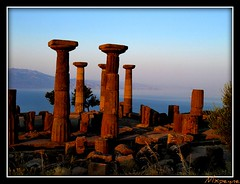 Temple of Athena (Assos) (mxpeyne) Tags: art turkey ancient olympus best trkei athena archeology tample zuiko assos turchia turkei behramkale anticando