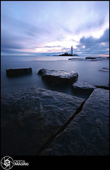 Beyond This World (f22 Digital Imaging) Tags: ocean uk sea england lighthouse water sunrise canon newcastle landscape coast sigma whitleybay stmaryslighthouse stmarysisland britishseascapes f22digitalimaging