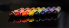 Crayola Reflection (cropped) (FrancesMatteck) Tags: reflection colors rainbow crayon crayola francesmatteck