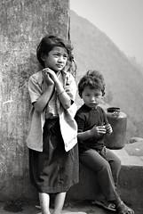 Nepali Children (jonathankalan) Tags: nepal portrait india portraits children nepalichildren nepalchildren chepang indiablackandwhiteportraits