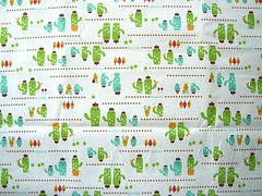 Cute Japanese Cotton Fabric - Decole - Decolello - Smiling Cactus (kawaii_fabric_and_paper) Tags: japan japanese linen sewing fabric cotton commercial kawaii supplies decole japanesefabric shinzikatoh decolello
