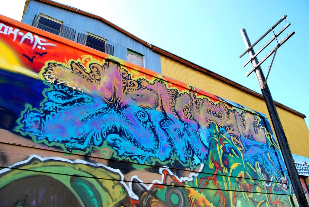 Truck Graffiti - North Oakland, CA.