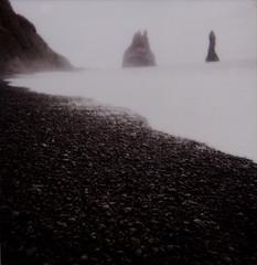 reynir \ iceland (52fragments) Tags: black film nature polaroid island iceland god vik wicked blackbeach reynir travelphoto  jkulsrlm