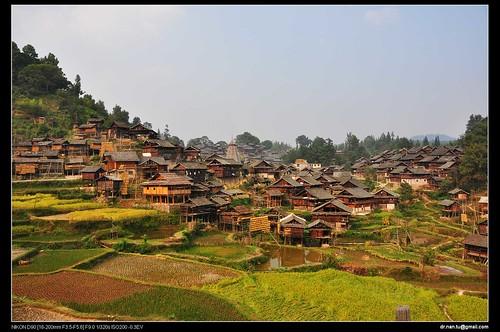 A Miao Minority Village in Guizhou, China