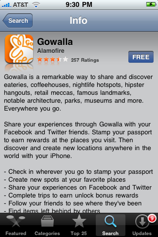 Gowalla for iPhone