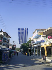 Waving Greece (yonutz90_bv) Tags: flag greece katerini greeceflag olympicbeach