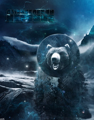 Neptune (Chris Halderman) Tags: world bear cloud mist snow mountains cold fall ice misty dark circle stars glow alien orb pit jacket freeze planet glaciers species outer grizzly neptune halderman