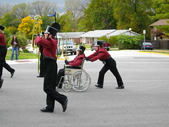 IMGP0523 (DanH63) Tags: park street school outside wheelchair band parade homecoming 2009 stcharles droste stcharleswest mcnairpark