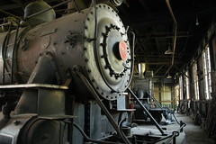 Steam Engine in the Roundhouse (track_photos) Tags: california ca train steamengine roundhouse railtown