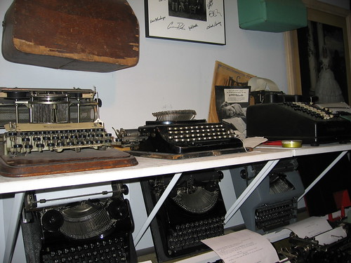 Some of the antique typewriters