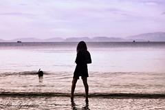 DiVER oF Love (aliaydogmus35) Tags: sunset sea love beach canon turkey 50mm trkiye mount diver deniz izmir 500d manken plaj urla dalg emealt aliaydogmus anlkfoto