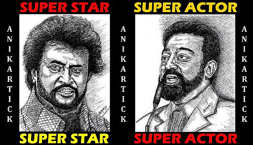 Chennai Super Kings - RAJNI And KAMAL