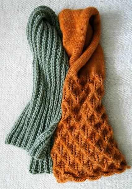 Đan khăn len to bản