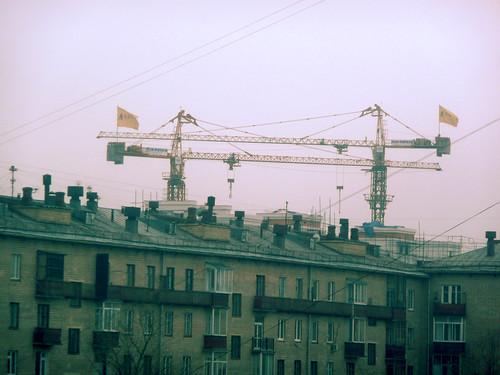 Москва. Ленинский проспект. Перечеркнутое небо.