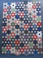 Japanese Flower Garden Quilt (QOB) Tags: quilt quilted patchwork longarm grandmothersflowergarden machinequilted quiltsonbastings baptistfans