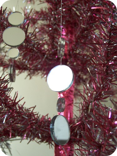 DIY mirrored ornaments