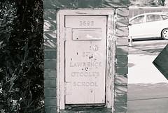 Mailbox (lola smalls) Tags: blackandwhite film 35mm catholicism 400iso analoggirls