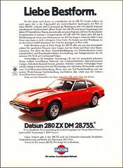 Datsun 280 ZX (01), Magazine Ad / Zeitungsanze...