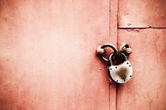 imprisoned crimson (ion-bogdan dumitrescu) Tags: door red up key doors lock garage romania locked bucharest imprisoned bitzi ibdp mg1417edit ibdpro wwwibdpro ionbogdandumitrescuphotography