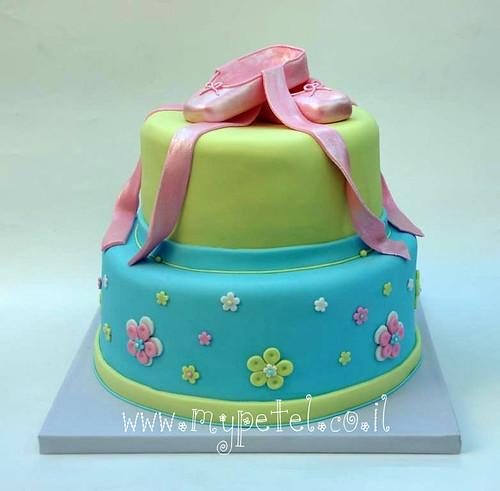 Ballet Slippers Cake ~*~ עוגת בת מצווה