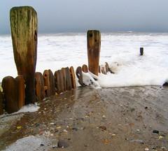 Weathered groyne, Hornsea (pete riches) Tags: sea snow beach weather seaside waves tide seawall erosion promenade groyne breakwater eastyorkshire hornsea seadefences eastyorks peteriches peterriches jupiter1uk