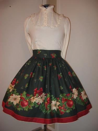 Christmas skirt 2009 003