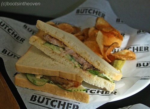 Pork Belly and Cucumber Mint Sandwich