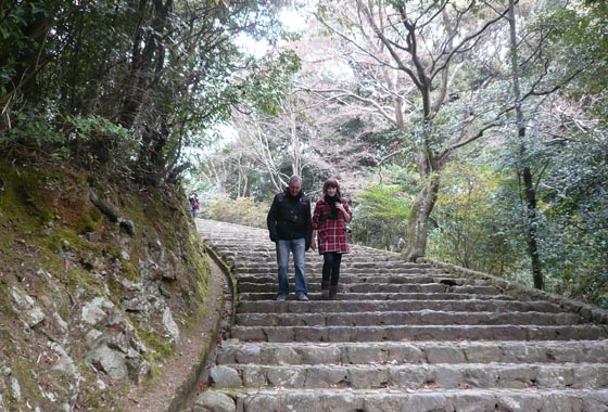 We headed through the forest to Kameyama-koen to follow the river along to Togetsu bridge