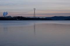 North Liberty Dr (ninesixoh) Tags: sunset river 50mm factory bearmountain hudsonriver t1i