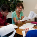 Writing tutors help students with their papers as mid-term week approaches.