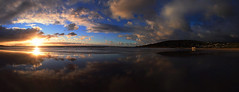 Sunrise x 2 (Beetwo77) Tags: panorama beach clouds sunrise canon seascapes stitch pano 7d stitching greatoceanroad lorne 1755 giga autopanogiga gigapaepicpro