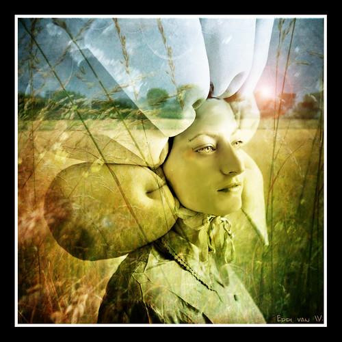 woman in the fields by Eddi van W.