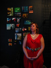 """The """"serious"""" pose (Opal in the rough) Tags: art photography gallery group opening waukesha wi spontaneous fridaynightlive buyme soexciting opalintherough melanievyvyan ilovemyfriendsandfamily debutshowing soldfourpiecesthefirstday"""