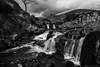Three Shire Heads B & W (Kev Palmer) Tags: winter england water clouds river blackwhite waterfall nikon cheshire lee february gbr thepeakdistrict wildboarclough benbo threeshireheads riverdane leefilters nikkor2470f28 benbotripod d800e nikond800e