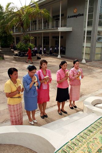 Thai Teachers Paying Respect