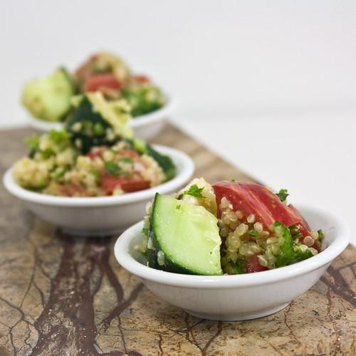 Angled Quinoa Tabouleh