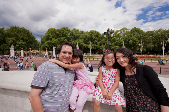 Family at Buckingham Palace