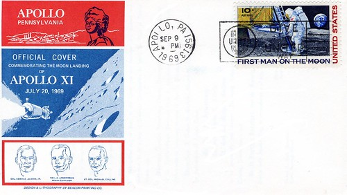 APOLLO 11 / 1969 FDC VILLE APOLLO