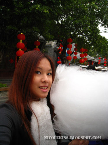 nicole with candy floss