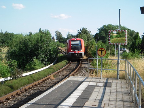 Our charriot to Weimar, arriving at the station.
