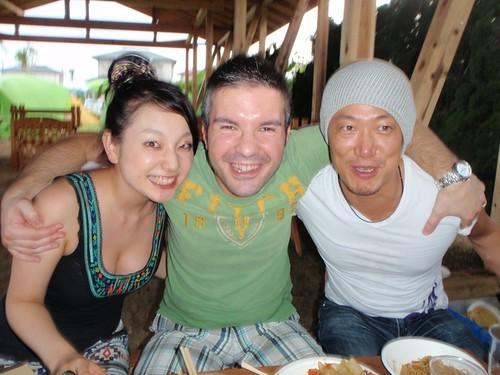 Con Asuka e Tomo